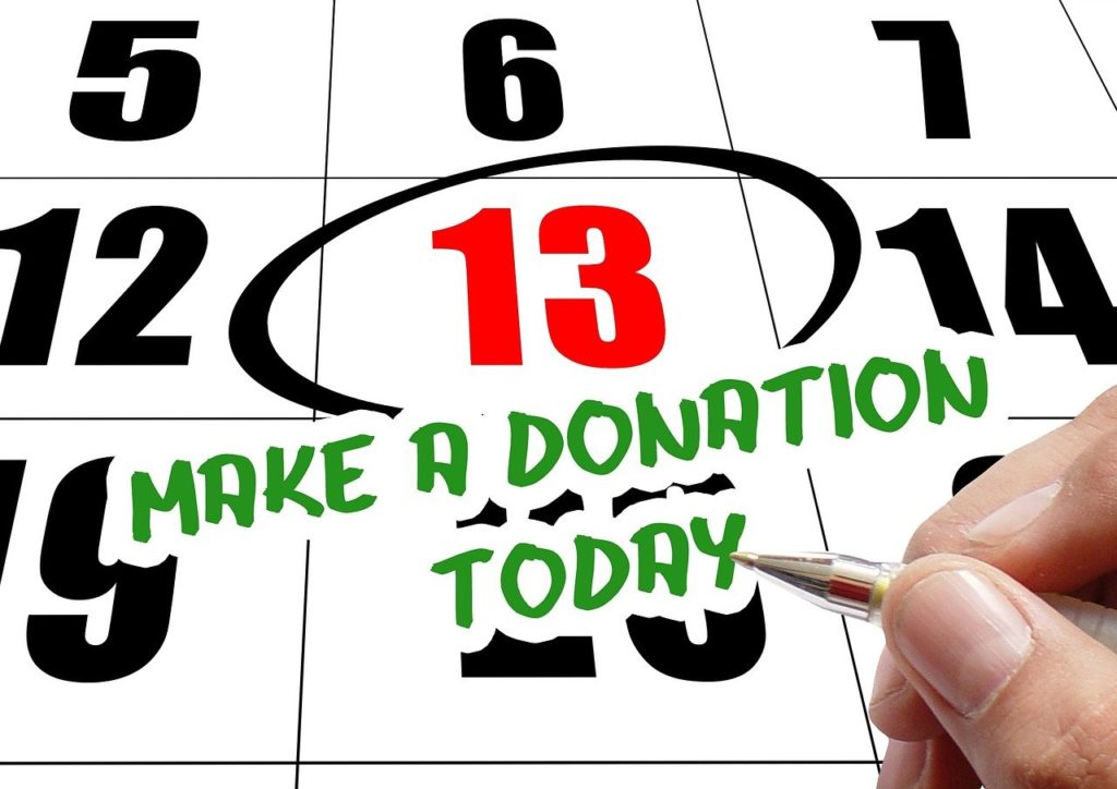 hand, write, donation